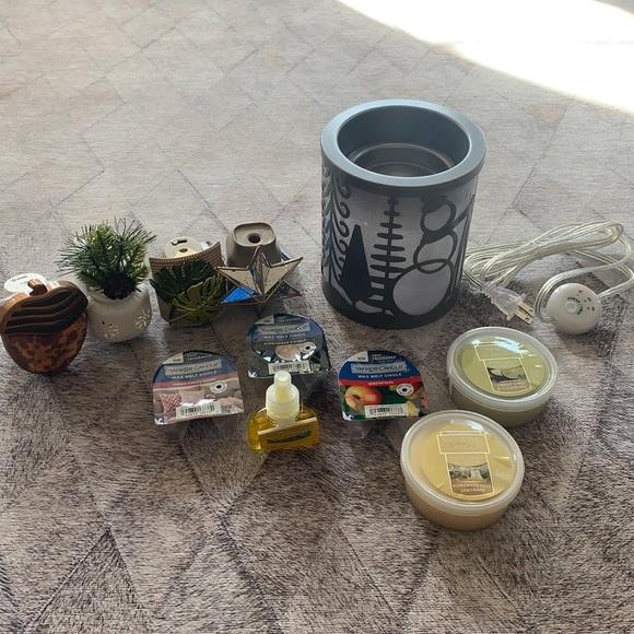 Yankee Candle Lot, wax melts, diffuser, wax warmer
